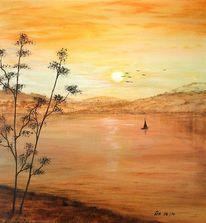 Sonne, Boot, Erholung, Meer