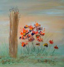 Natur, Acrylmalerei, Landschaft, Malerei