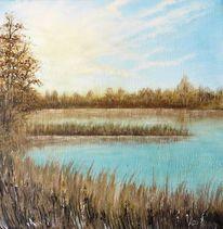 Wasser, Natur, Landschaftsmalerei, Himmel