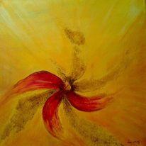 Natur, Acrylmalerei, Orange, Landschaft