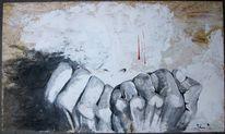 Grau, Hände, Hand, Faust