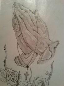 Tattoo beten hände, Zeichnungen, Hände