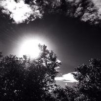 Schwarz weiß, Tag, Wolken, Wetter