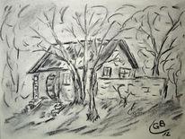 Kohlezeichnung, Wischen, Zeichnung, Zeichnungen