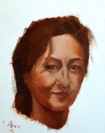 Frau, Klassisch, Selbstportrait, Ausdruck