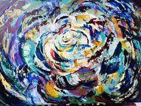 Blüte, Rose, Acrylmalerei, Malerei