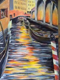 Engel nacht mond, Malerei, Venedig, Venezia