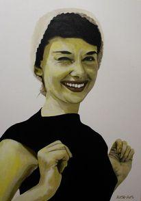 Audrey hepburn, Portrait, Malerei, Hepburn