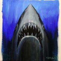 Fisch, Der weiße hai, Hai, Malerei