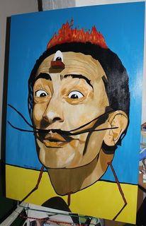 Dalí, Frisur, Augen, Schublade