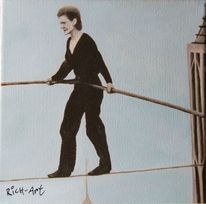 Philippe petit, Walk 1974, High wire, Malerei