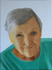 Babcia, Portrait, Oma, Malerei