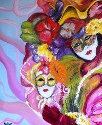 Venedig, Malerei, Rot, Karneval