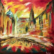 Ölmalerei, Architektur, Stefansdom in wien, Malerei