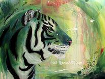 Acrylmalerei, Malerei, Abstrakt, Tigerbilder