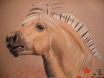 Pferde, Fjordpferd, Malerei,