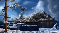 Insel, Winter, Meer, Eis