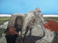 Acrylmalerei, Menschen, Surreal, Tiere