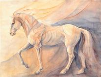 Aquarellmalerei, Hannah böving, Pferde, Aquarell