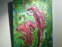 Acrylmalerei, Papagei, Malerei, Tiere
