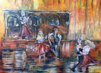 Acrylmalerei, Tanz, Irish pub, Malerei