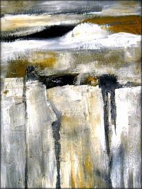 Wolken, Felsen, Landschaft, Malerei