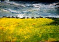 Landschaft, Feld, Wolken, Wetter