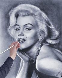 Auge zeichnen, Frau, Wie zeichnen gesicht, Marilyn monroe