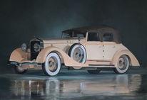 Gemälde, Oldtimer, Malerei, Auto
