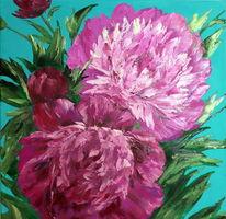 Pflanzen, Gemälde, Spachtel, Malen