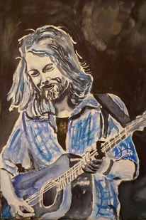 Aquarellmalerei, Bart, Musiker, Portrait