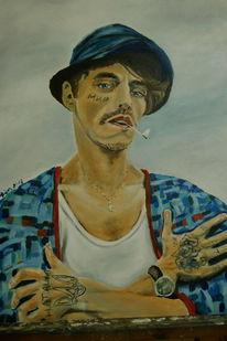 Menschen, Mann, Ölmalerei, Portrait