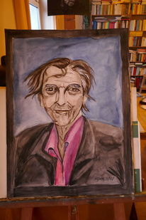 Aquarellmalerei, Harry dean stanton, Portrait, Aquarell
