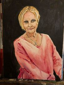 Portrait, Ballerina, Frau, Aquarellmalerei
