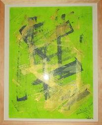 Paar, Malerei, Abstrakt, Acrylmalerei