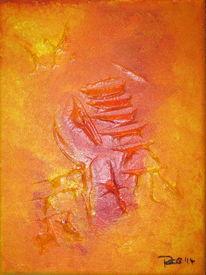 Sturm, Abstrakt, Acrylmalerei, Strukturpaste
