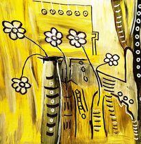 Malen, Gelb, Frische, Vase