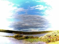Fotomontage, Natur, Schweden, Ruhe