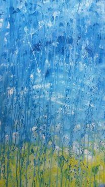 Abstrakt, Bunt, Trauer, Malerei