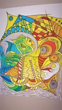 Fisch, Bunt, Fantasie, Abstrakt