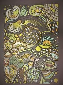 Bunt, Fisch, Abstrakt, Wortlos