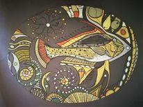Abstrakt, Fantasie, Bunt, Fisch