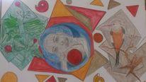 Abstrakt, Bunt, Fantasie, Vogel