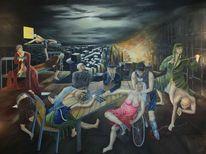 Politik, Gesellschaft, Ölmalerei, Malerei