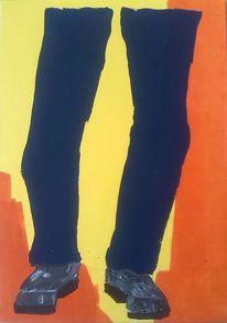 Acrylmalerei, Gelb, Blau, Popart