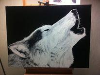 Malerei, Ölmalerei, Wolf
