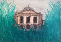 Malerei, Abstrakt, Grün, Oper
