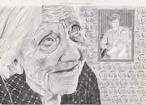 Bleistiftzeichnung, Zeichnung, Portrait, Zeichnungen
