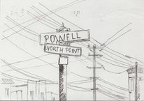 San francisco, Kalifornien, Urban sketching, Zeichnungen
