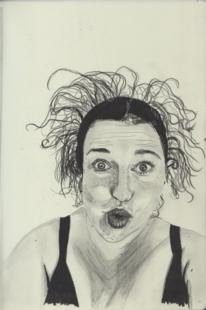 Skizzenbuch, Schwägerin, Diverse schwarzstifte, Zeichnungen